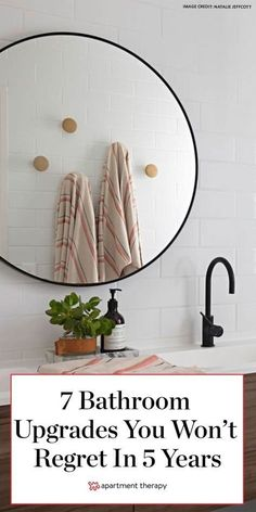 These 7 classic bathroom upgrade ideas that will stand the test of time, according to pros. #bathroom #bathroomupgrades #bathroommakeover #bathroomideas #bathroomreno #bathroomdecor #smallbathroomideas