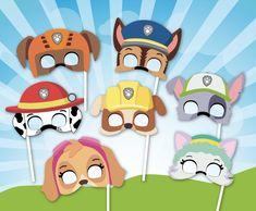 Paw Patrol Masks, Paw Patrol Party, Paw Patrol Birthday, Paw Patrol Tracker, Pup Patrol, Kids Birthday Themes, Birthday Photos, 4th Birthday, Cumple Paw Patrol