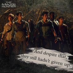 The Maze Runner: loved the books and I am SOOO excited for the movie