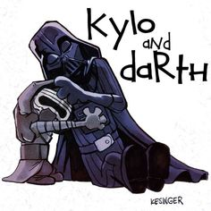 Darth and Kylo (Calvin and Hobbes and Star Wars mashup) - by Brian Kesinger - #3