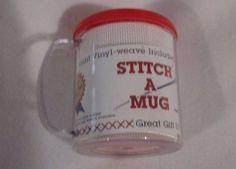 Stitch a Mug 14 ct Vinyl-Weave Cross Stitch Mug Coffee Cup New #CraftersPride
