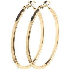 Pieces Pcdiana Hoop Earrings ($10) ❤ liked on Polyvore featuring jewelry, earrings, accessories, gold, womens-fashion, gold tone earrings, pieces jewelry, gold tone hoop earrings, earring jewelry and gold colored earrings