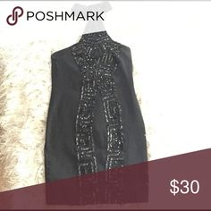 Halter sequin detail dress Vintage contempo dress.Super sexy!! One of a kind little black dress. perfect for a night out. Dresses Mini