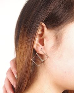 Fashion Cube Lady's Earrings
