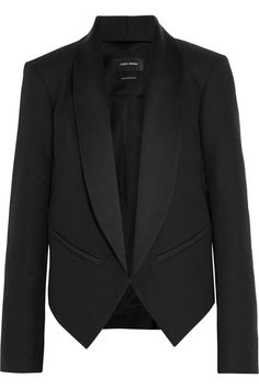 Isabel MarantDaisy cotton-blend canvas tuxedo jacketfront