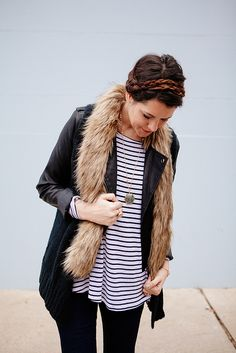 faux fur + stripes | kendi everyday