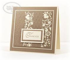"""Very effective way to use up the """"snippets"""" we collect but are """"sure to be useful instead of toss"""". (and I certainly have lots of those in many colors) This card is by Beth Beard on her My little Craft Blog."""