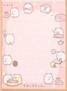 Sumikkogurashi pink mini Note Pad polar bear and cloth 4