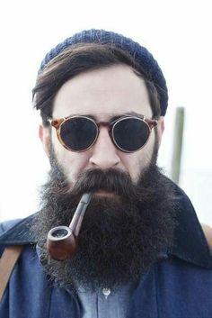 Barba lenhador estilo hipster