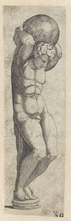 Anonymous | Sculptuur. Atlas, Anonymous, c. 1535 - c. 1540 |