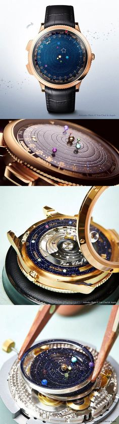 An incredible timpice, beautifull work of art.Midnight Planétarium|planets / star / Milky Way / the Galaxy / watch