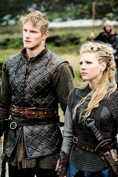 Bjorn and Lagertha. Vikings.