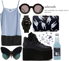 """purpleblue"" by wildeemely ❤ liked on Polyvore"