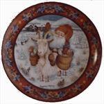 Julestemning Plate - #9 Goat Nisse Gnomes, Goat, Decorative Plates, Home Decor, Decoration Home, Room Decor, Goats, Home Interior Design, Home Decoration