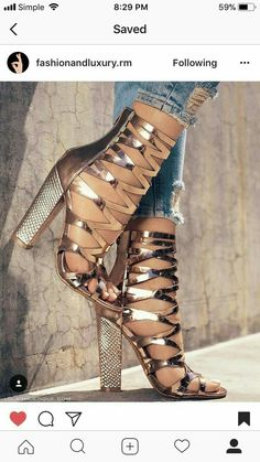 12 Stunning High Heels and Wedges To Wear This Summer - Very Cute Summer Shoes. These Shoes Will Look Good With Any Outfit. The Best of high heels in Dream Shoes, Crazy Shoes, Pretty Shoes, Beautiful Shoes, High Heel Boots, Shoe Boots, Hot Shoes, Shoes Heels, Stilettos