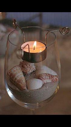 Wine glass tea light candle holder set of 2 image 1 Wine Glass Holder, Tealight Candle Holders, Glass Candle Holders, Diy Candles, Tea Light Candles, Tea Lights, Floating Candles, Mason Jar Crafts, Bottle Crafts