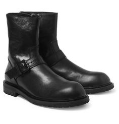 Ann Demeulemeester - Leather Biker Boots | MR PORTER