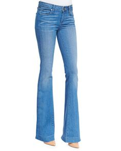 Paige Denim Fiona Harrison Whiskered Flared Denim Jeans - Bergdorf Goodman
