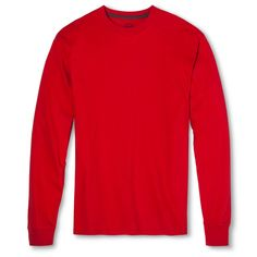 Men's Fruit of the Loom Long Sleeve T-Shirts True Red -M, Size: Medium