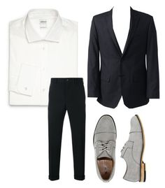 costume homme by emma-robion on Polyvore featuring polyvore Armani Collezioni Comme des Garçons Homme Lands' End X-Ray men's fashion menswear clothing