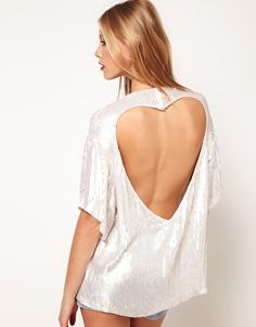 <3 Enlarge ASOS Sequin Tunic With Heart Cutout Back