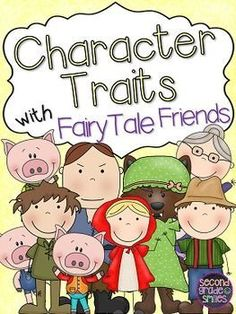 Use familiar fairy tales to teach character traits! Students begin by describing themselves and their classmates using key vocabulary and move on to familiar characters from their favorite stories. Fun lesson ideas for grade grade and grade Character Traits List, Teaching Character Traits, Character Education, Third Grade Reading, Second Grade, Kindergarten Reading, Teaching Reading, Learning, Fairy Tales Unit