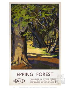 Rambles in Epping Forest Art Print at Art.com