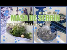 COMO HACER MASA DE SERRÍN, 3 IDEAS, Yobanka art, arte y artesanía, handcraft - YouTube Cement Flower Pots, Papercrete, Clay Food, Pasta Flexible, Easy Diy Crafts, Diy Videos, Art Tutorials, Decoupage, Projects To Try