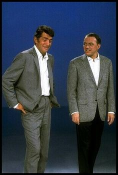 Dean Martin and Frank Sinatra... I wonder why Frank is looking at Dean like that?