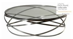 Roche Bobois - Evol coffee table. Wrought iron structure, 10mm glass top. More details to follow.