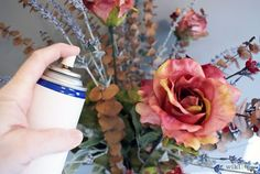 How to clean artificial flower arrangements ;)