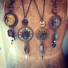 Wondering what is Steampunk? Visit our website for more information on the latest with photos and videos on Steampunk clothes, art, technology and more. Jewelry Art, Vintage Jewelry, Jewelry Design, Women Jewelry, Fine Jewelry, Jewlery, Gold Jewelry, Bullet Jewelry, Skull Jewelry