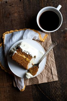 Gingerbread Cake with Lemon-Ginger Cloud Frosting