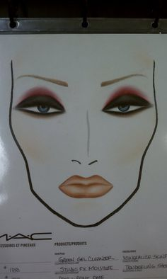 mac face chart WNW Spoiled Brat Palette for the eye look, WNW Bare it All lipstick