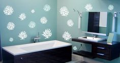 Give some color to your house with coral wall decals!  Visit this link for more designs: https://limelight-vinyl.myshopify.com/