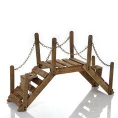 Puente soporte de plantas decorativo ¡Jardinera de madera y hierro forjado para el jardín, la terraza o interiores!: Amazon.es: Jardín