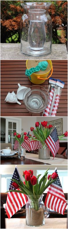 Dollar Store 4th of July Centerpieces // Easy, patriotic and cheap!