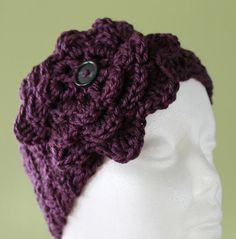 Plum Purple Simply Soft Earwarmer/Headband by SnugableTouches, $10.00