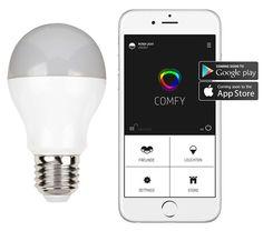Die intelligente LED Comfy ComfyLight schaltet sich selbst ein und aus um den Anschein zu erwecken, die Bewohner seien zu Hause.