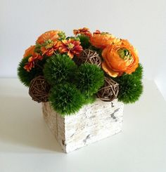 ON SALE  Modern Floral Arrangement  Orange by ArtsFloralDesign, $64.00