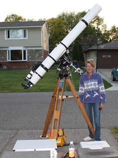 D&G 150 mm refractor telescope. D&G is and an American company that makes their own objectives, mostly long focal length variety.
