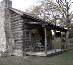 love little log cabins...this is all i really need.