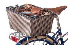 PUBLIC Woven Bike Basket. So easy to take on and off the rear rack.