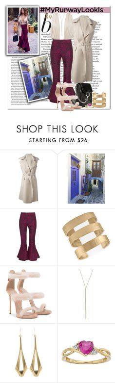 """""""What's YOUR Runway Look?_Pretty in Purple"""" by msmith801 ❤ liked on Polyvore featuring Agnona, Mary Katrantzou, Rachel Rachel Roy and Kenneth Jay Lane"""