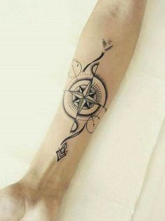 - Compass Tattoo Ideas with Meanings & Coordinate Tattoos Uncategorized 100 Awesome Compass Tattoo Designs Arrow Tattoos, Rose Tattoos, Body Art Tattoos, Sleeve Tattoos, Tatoos, Garter Tattoos, Heart Tattoos, Thigh Tattoos, Skull Tattoos