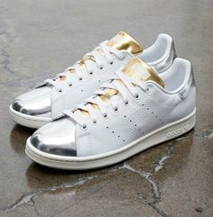 best service 7d5a0 69722 adidas Originals Stan Smith  Mid Summer Metallic  Vestir Bien, Zapatos  Adidas, Zapatos