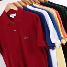 Lacoste polo shirts in a variety of colours, available in sizes and starting at just across the range. Be sure to shop theses and the full range of Lacoste through the link to the website. Lacoste Polo Shirts, Lacoste Sport, Lacoste Men, Lacoste Online, Golf T Shirts, Tee Shirts, Preppy Mens Fashion, Men's Fashion, Vans Jacket