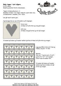 Idaamalieunjem Hjerteteppe Til En Liten Prins - Diy Crafts Diy Crafts, Knitting, Words, Inspiration, Decor Ideas, Gallery, Image, Threading, Biblical Inspiration