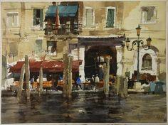 【就是愛威尼斯】27*36CM,Watercolour....By Chien Chung Wei,簡忠威老師水彩課堂示範 2013.8.16