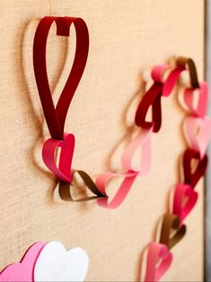 Countdown Paper Chain Count Down The Days Until Valentines Day With A Pink And Red